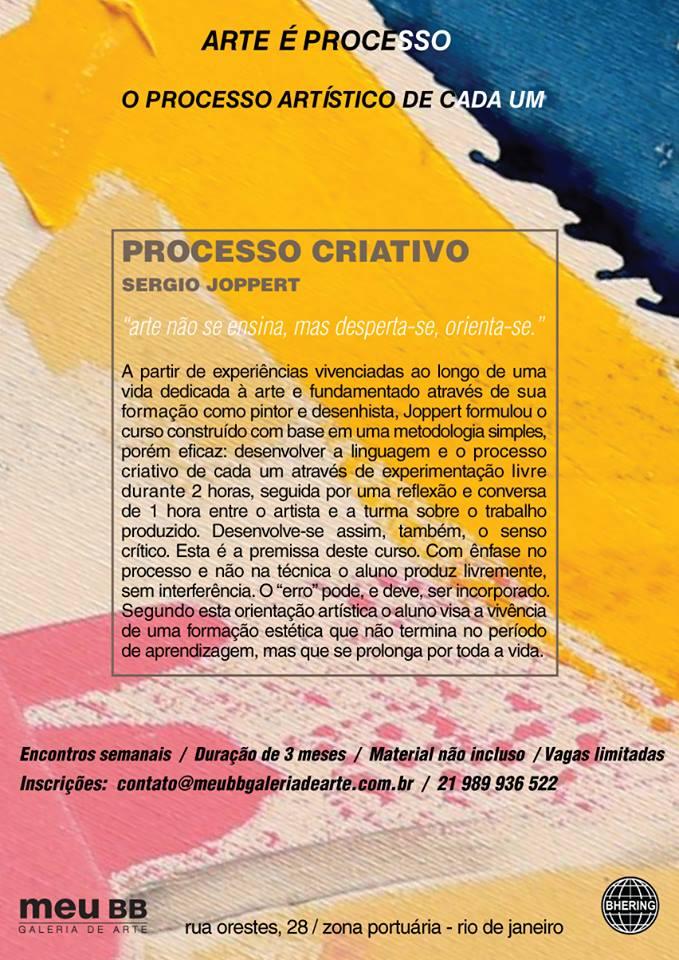curso processo criativo Sergio Joppert