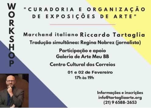 Riccardo Tartaglia Workshop Centro Cultural Correios 2019 Meu BB Galeria de Arte